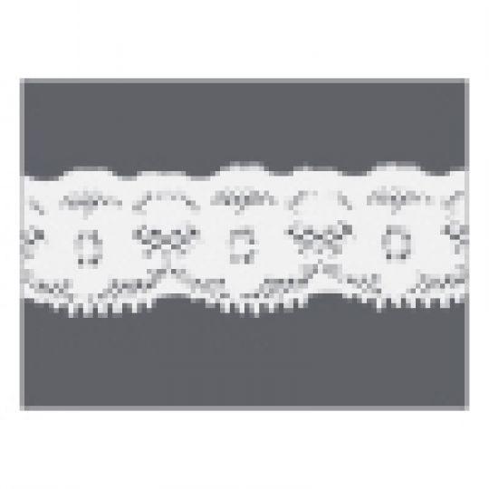 20mm Cream Gathered Cambric Lace per metre