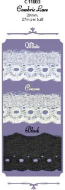 Click Here To View Flat Cambric Lace - 28mm