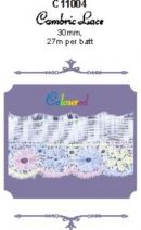 Click Here To View Flat Cambric Lace - 30mm - Coloured