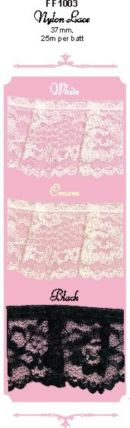 Click Here To View Regal Frilled Nylon Lace - 37mm