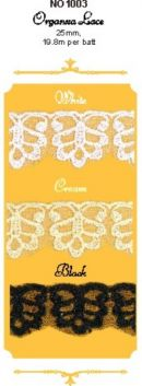 Click Here To View Regal Organza Lace Flat - 25mm
