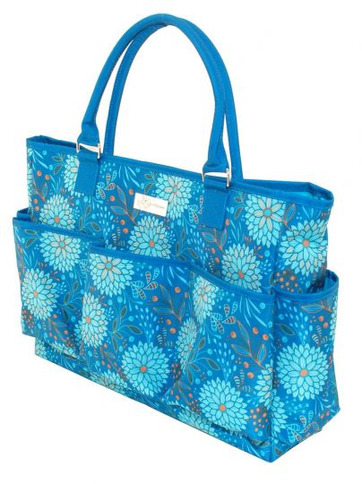 Everything mary deluxe knitting tote sewing for Arts and crafts tote bags